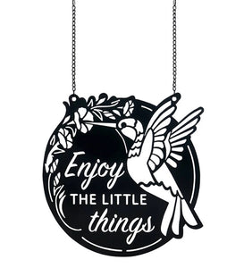 Enjoy the Little Things garden metal flag