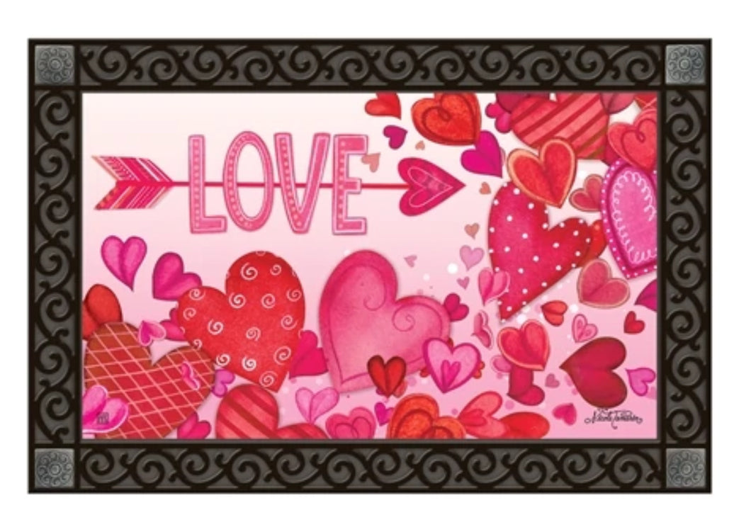 Valentine Showers Door Mat (local delivery only)