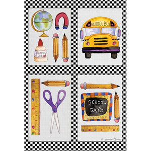 School Stuff Garden Flag