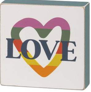 LOVE block sign