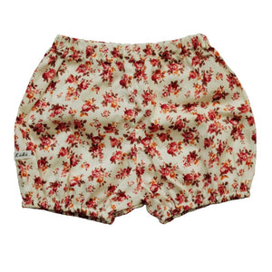 Cream Floral Print Bloomers
