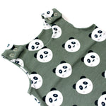 Load image into Gallery viewer, Khaki Panda Print Harem Romper