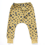Load image into Gallery viewer, Yellow Leopard Print Organic Cotton Harem Leggings