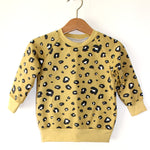 Load image into Gallery viewer, Yellow Leopard Print Organic Cotton Sweatshirt