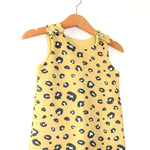 Load image into Gallery viewer, Yellow Leopard Print Organic Cotton Harem Romper