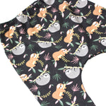 Load image into Gallery viewer, Charcoal Grey Sloths Print Harem Leggings
