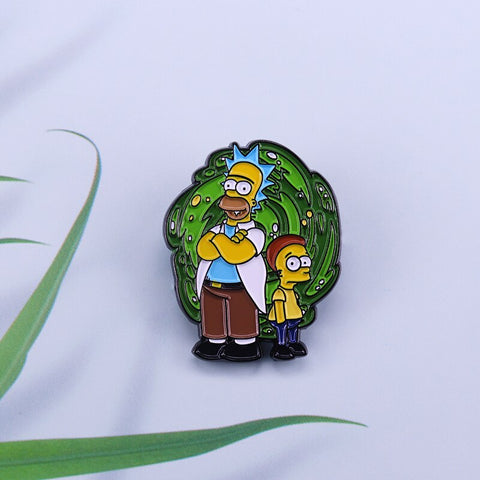 Pin Los Simpson y Rick & Morty