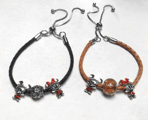 Pulsera charms Mickey & Minnie
