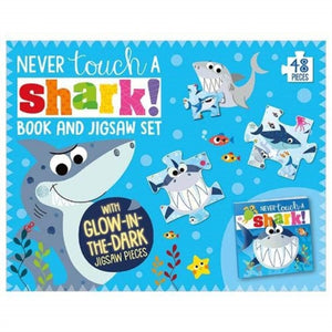 Never Touch A Shark Book and Jigsaw Boxset-9781789478945