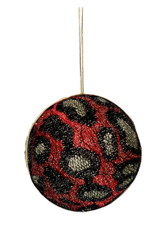 Animal Print Sequin Bauble (red)