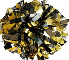 Load image into Gallery viewer, 1 pc Cheerleading Pom Pom Metallic With Baton Handle 4''