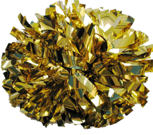 Load image into Gallery viewer, 1 pc Cheerleading Pom Pom Metallic With Baton Handle 8''