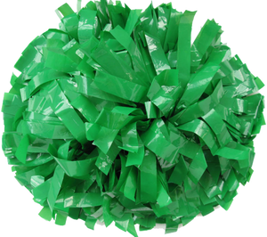 1 pc Cheerleading Pom Pom Wet Look With Baton Handle 10''