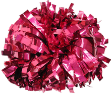 Load image into Gallery viewer, 1 pc Cheerleading Pom Pom Metallic With Baton Handle 10''