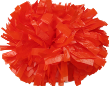 Load image into Gallery viewer, 1 pc Cheerleading Pom Pom Wet Look With Baton Handle 10''
