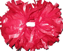 Load image into Gallery viewer, 1 pc Cheerleading Pom Pom Plastic With Baton Handle 6''