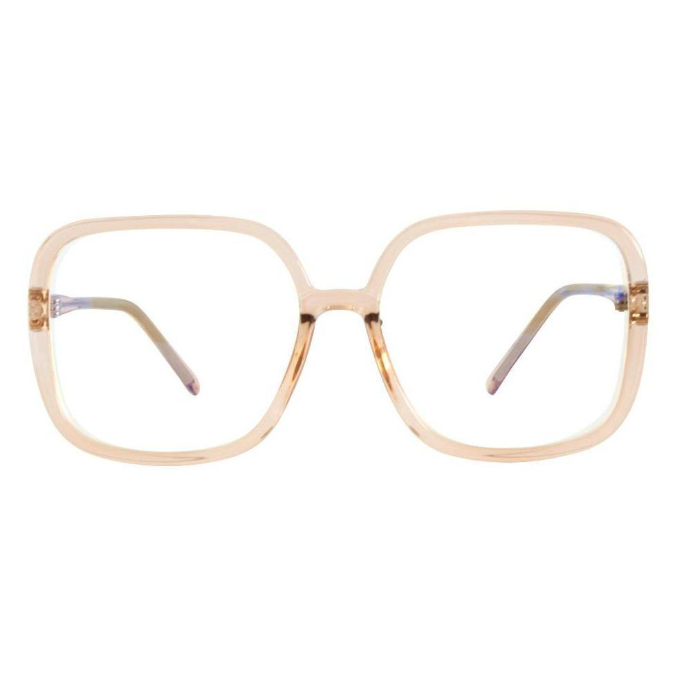 Aphrodite Oversized Retro Blue Light Glasses in Clear Melba