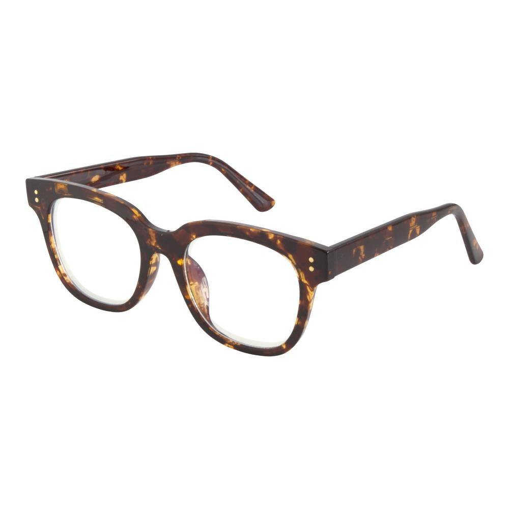 Atlas Oversized Blue Light Glasses in Tortoise