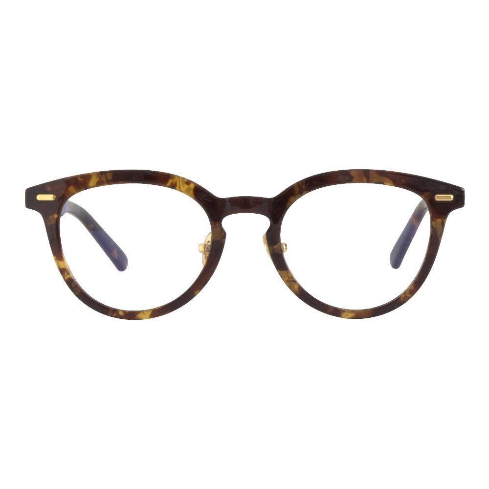 Hermes Retro Blue Light Glasses in Tortoise - Forward Facing