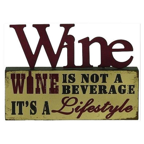Wine_is not a Beverage Table Top Block Valuezy Australia