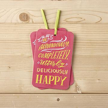 Gift Tag Card with Envelope be astoundingly completely utterly deliciously happy valuezy Australia