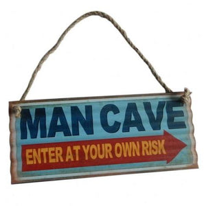 Man Cave - Metal Sign Enter At Your Own Risk valuezy australia
