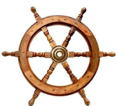 Wooden Ships Wheel - 60cm Valuezy Australia