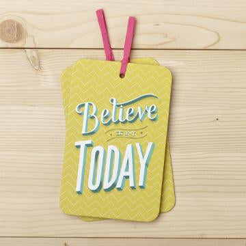 Gift Tag Card with Envelope believe in today valuezy australia