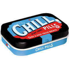Nostalgic Storage Tin - Mint Box Chill Pills Valuezy
