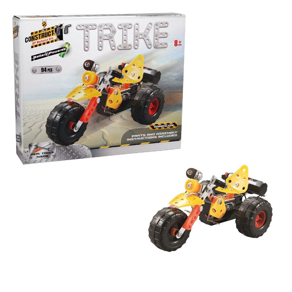 Construct It! Trike 94 piece Kit - Battery Powered Construct It! - Excavator toy  2 craft hobby Valuezy Australia