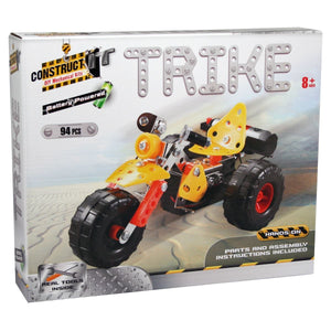 Construct It! Trike 94 piece Kit - Battery Powered Construct It! - Excavator toy  craft hobby Valuezy Australia