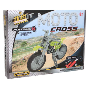 Construct It! Kit Platinum X Moto Cross Construct It! - Excavator toy  craft hobby Valuezy Australia