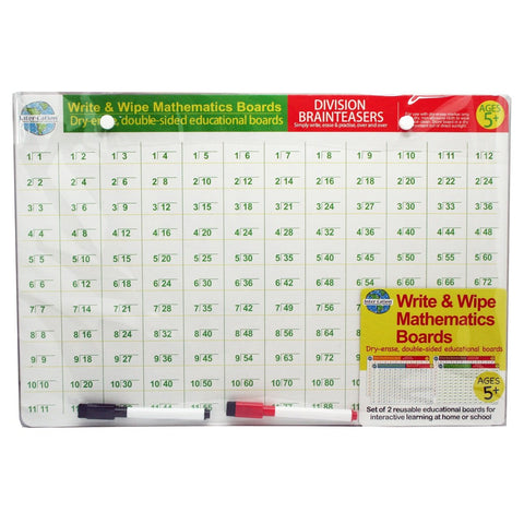 Childrens learning Write & Wipe Mathematics Boards Valuezy Australia