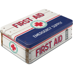 Nostalgic Storage Tin - First Aid Box Valuezy