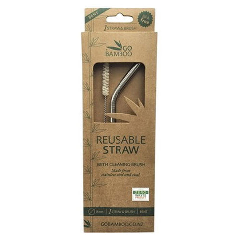 Stainless Steel Straw with Sisal Cleaning Brush Eco Friendly Valuezy Australia