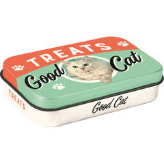 Nostalgic Storage Tin - Cat Treat Box Valuezy