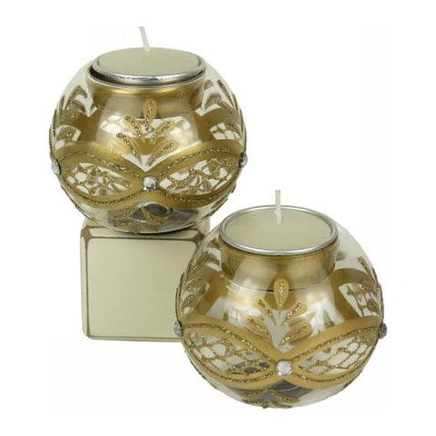Glass Bauble Candle holder - Gold Valuezy Australia