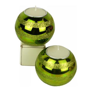 Glass Bauble Candle holder - Green Valuezy Australia