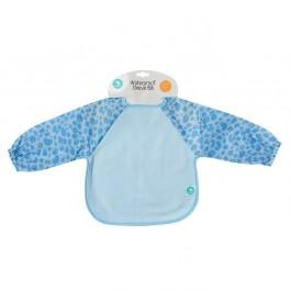Long Sleeve Waterproof Bib - Blue Leopard valuezy australia