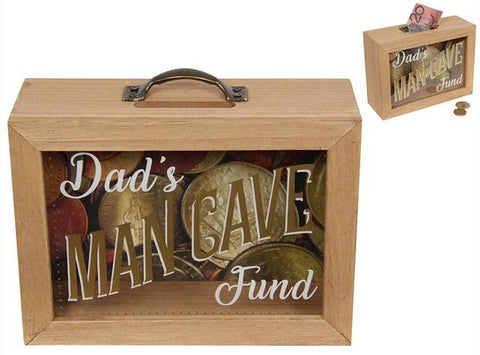Mancave  Fund Money Box  glass wood valuezy australia