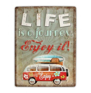 Metal Sign - Life is a Journey Enjoy It valuezy australia