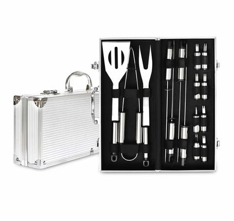 Men's Republic 16 Piece BBQ Set in Aluminium Case Valuezy