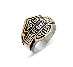 Blaze Gold Steel Harley Davidson Ring valuezy australia