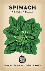 Heirloom Seeds - Spinach 'Bloomsdale'