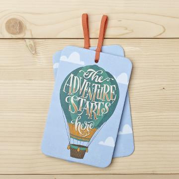 Gift Tag Card with Envelope the adventure starts here valuezy australia