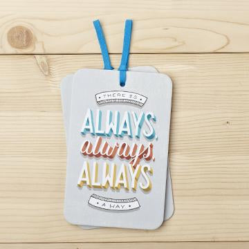 Gift Tag Card with Envelope there is always always always a way valuezy australia