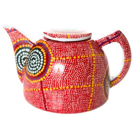 Aboriginal artist Debbie Brown designed Indigenous art Teapot