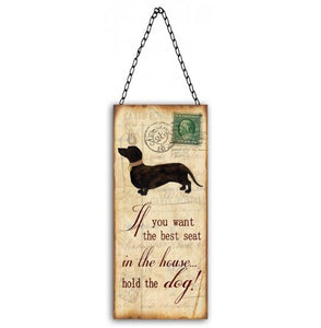 Best Seat in the House Hanging Dog Sign Valuezy Australia