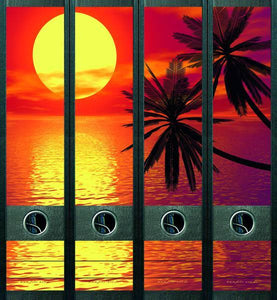 File Art - Tropical Sunset Self Adhesive Labels Valuezy Australia