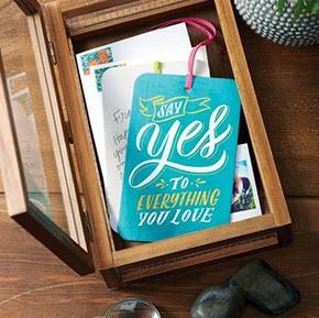Gift Tag Card say yes to everything you love with Envelope